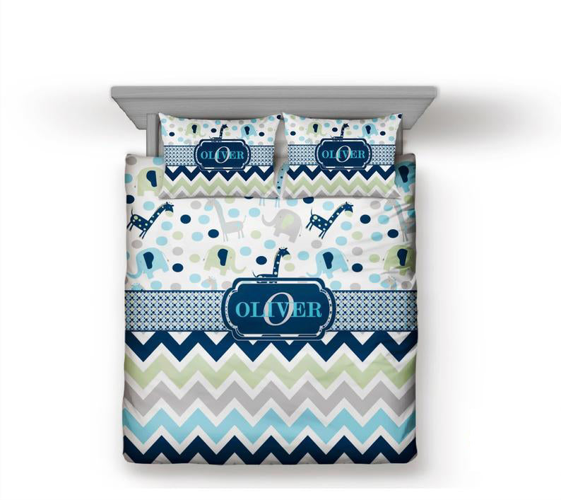 Monogram Personalized Custom Bedding Sets - Zoo-Custom-decor2house