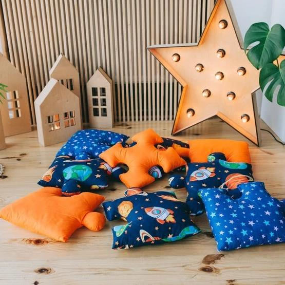 9pc Puzzle Shape Baby Play Mat - Space Theme-Puzzle Play Mat-decor2house
