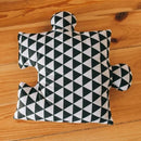 9pc Puzzle Shape Baby Play Mat - Black Star-Puzzle Play Mat-decor2house