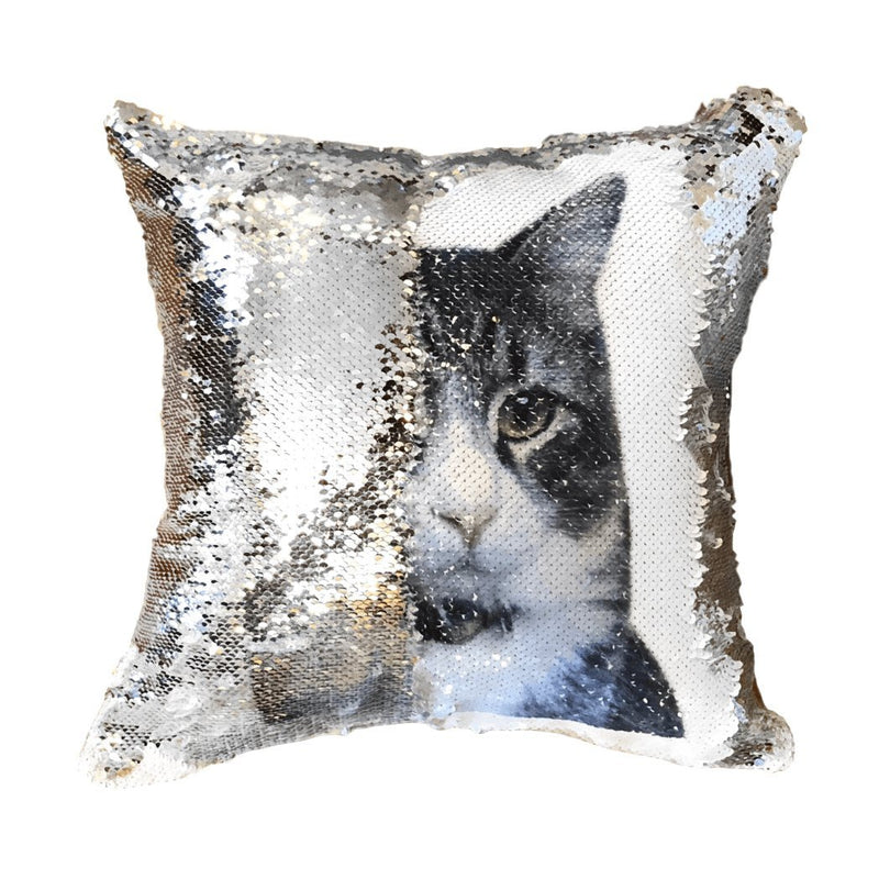 Personalized Your Pet Photo Sequin Shimmer Pillow Cover - Design Your Pillow