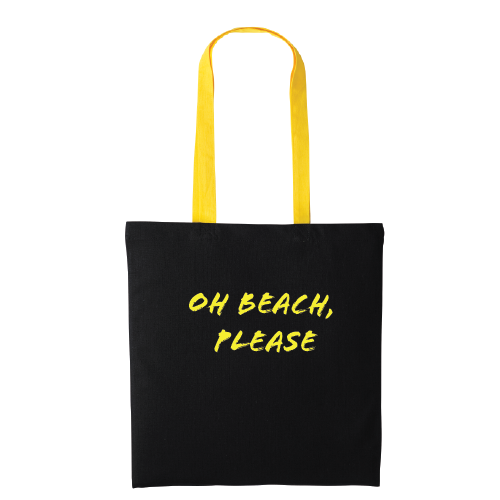 Oh Beach Please Contrast Colour Handle Tote Bag
