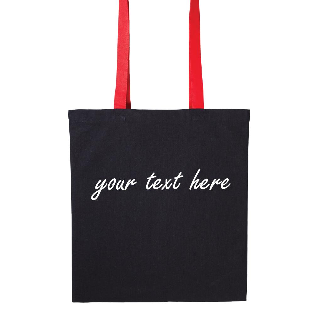 Personalised Contrast Colour Handle Tote Bag