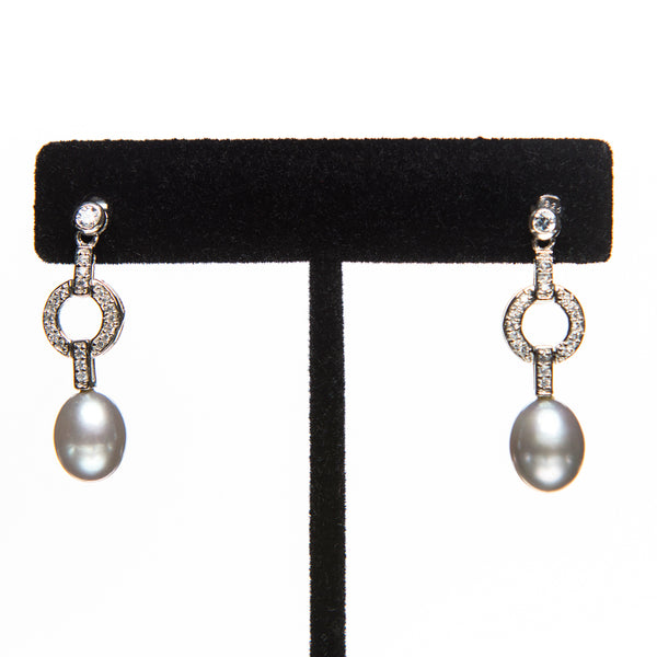 Pearls and Crystal Earrings