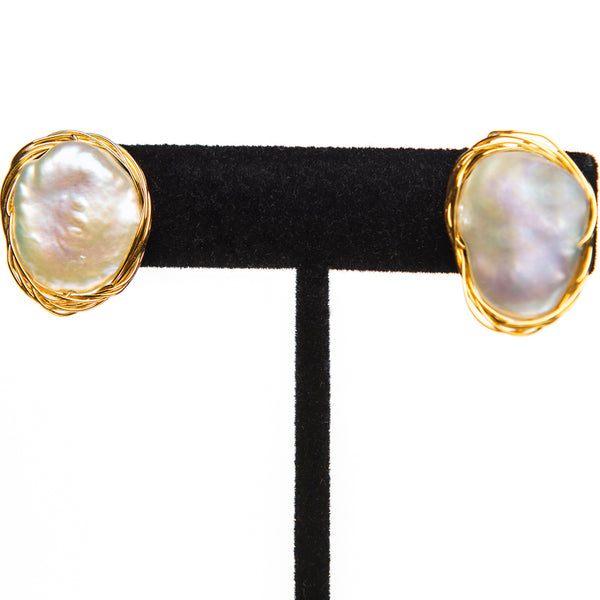 Clip On Pearl Earrings