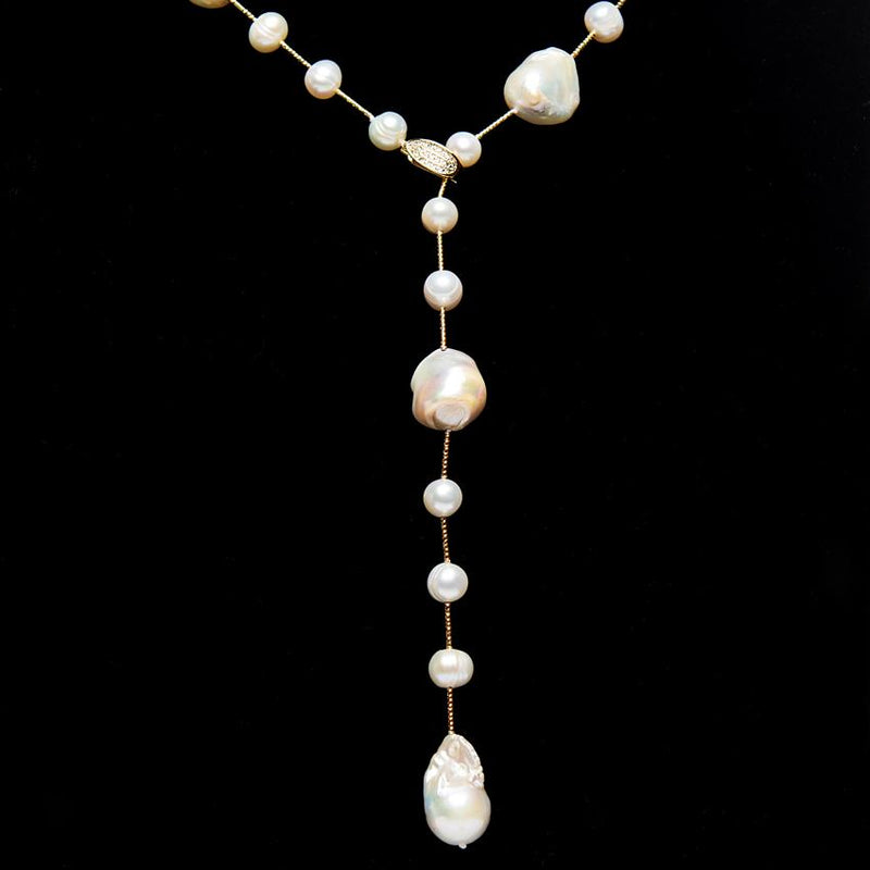 Adjustable Pearl Lariat