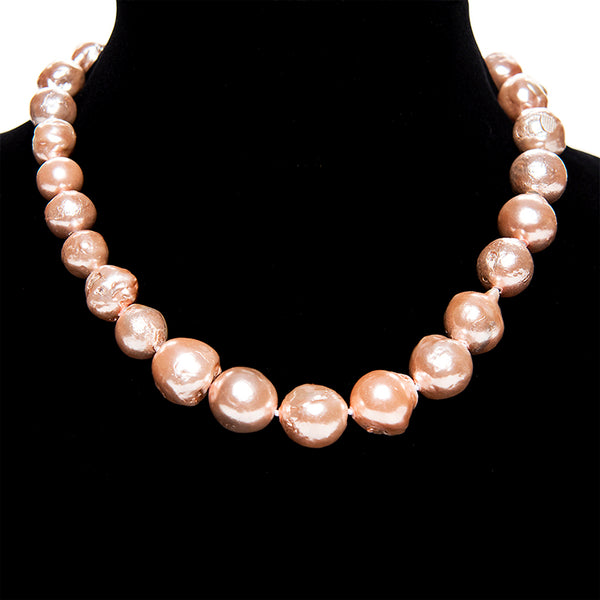 Blush Baroque Pearl Necklace