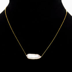 Single Pearl Chain Necklace