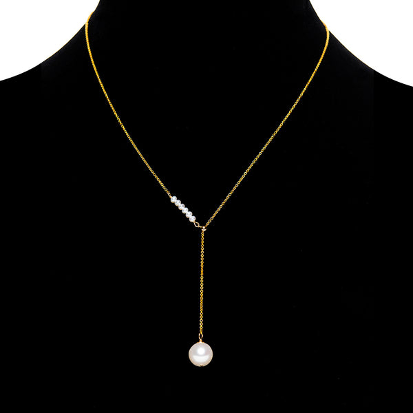 Adjustable Pearl Chain Necklace