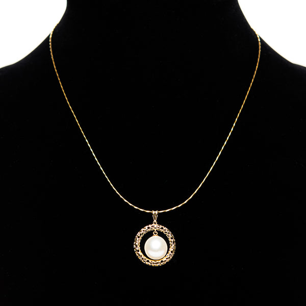 Circled Pearl Necklace
