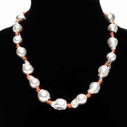 Pearl and Leather Necklace