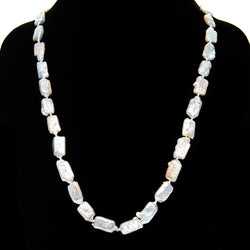 Long White Pearl Necklace