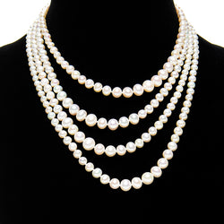 Long Graduated Pearl Necklace