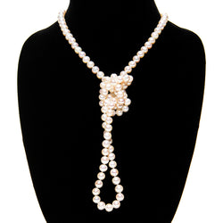 Long Pearl Rope Necklace