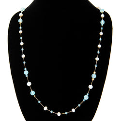 Turquoise and Pearls Necklace