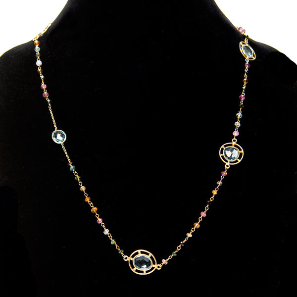 Long Designer Chain Necklace