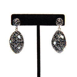 Large Pave Crystal Earrings