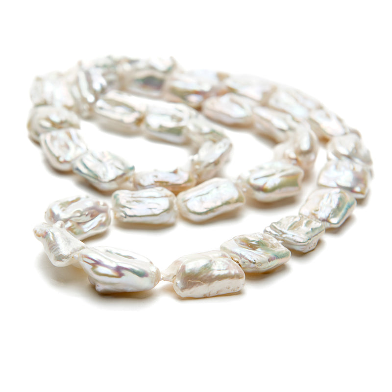 Long Baroque Pearl Necklace