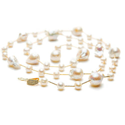 Linton Jewelry Adjustable Pearl Lariat