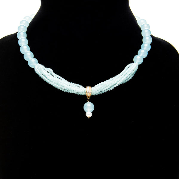 Short Designer Turquoise Necklace