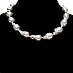 Grey Baroque Pearl Necklace