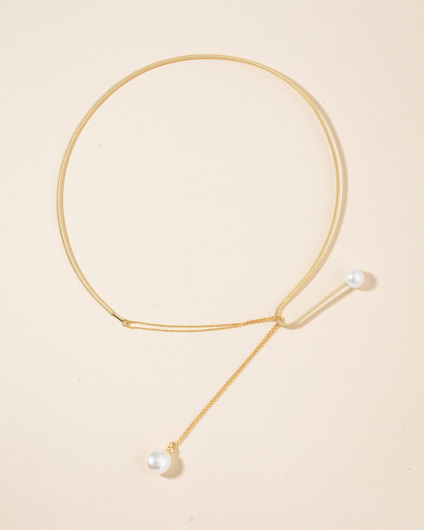 Gold Collar Pearl Necklace