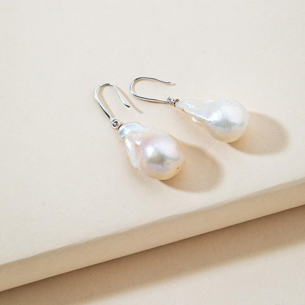 Linton Jewelry Large Baroque Pearl Earrings
