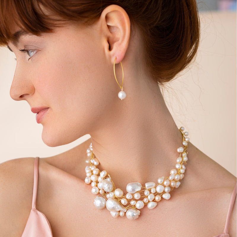 Baroque Pearl Choker Necklace - Linton Jewelry