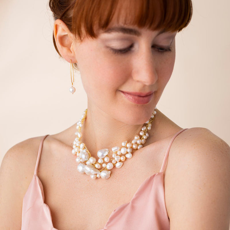 Baroque Pearl Choker Necklace - Linton Jewelry 2