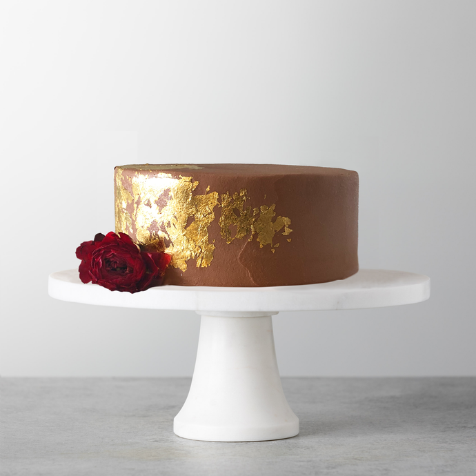 The Evercake edible gold on cake, NYC delivery