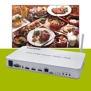 XOLORspace TW13 2X3, 2X2, 1X2, 2X1, 3X3 HDMI Video wall controller with USB media player, WIFI and Screen Mirroring