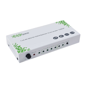 XOLORspace S104 1x4 4K 60HZ HDR HDMI Splitter auto downcaler output 4K 60HZ HDR and 1080P simultaneously