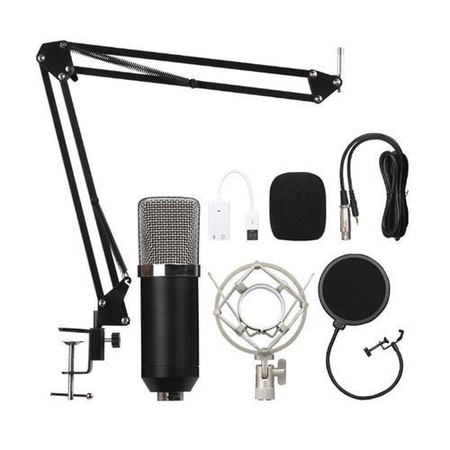 Condenser microphone set mobile phone live computer network anchor K song recording microphone