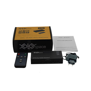 XOLORspace 23031  3x1 4K@60Hz 4:4:4 HDR HDMI Switcher with remote control and auto switch hdcp 2.2
