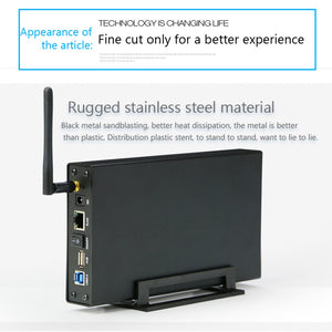 XOLORspace U35WF Rj45 External Hard Drive Case Nas Wifi Antenna Wireless Wifi SATA USB 3.0 Wifi HDD Interface Aluminum HDD Box