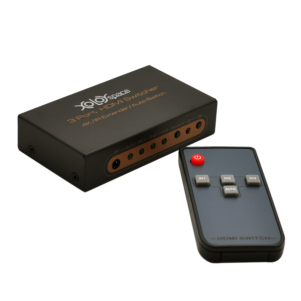 XOLORspace 23032 4K 60HZ 4:2:0 / 4K 30HZ 3 Port HDMI Switcher