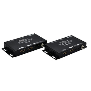 XOLORspace HT001 4K 60HZ HDR Transparent HDMI extender 40m at 4K 60HZ HDR with downscaler, IR+PoE