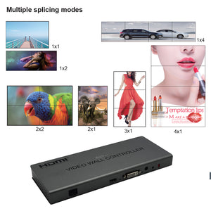 XOLORspace TW22 2x2 1080P 2x2 HDMI VIDEO WALL CONTROLLER 2X2/1X2/2X1