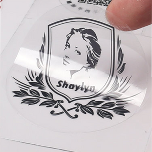 photograph regarding Printable Vinyl Sticker called Personalized water-proof adhesive label printing vinyl clear