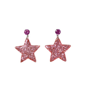 Peach Stardust Earrings