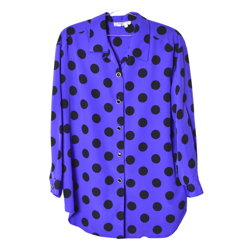 Vintage Purple Polka Dot Blouse