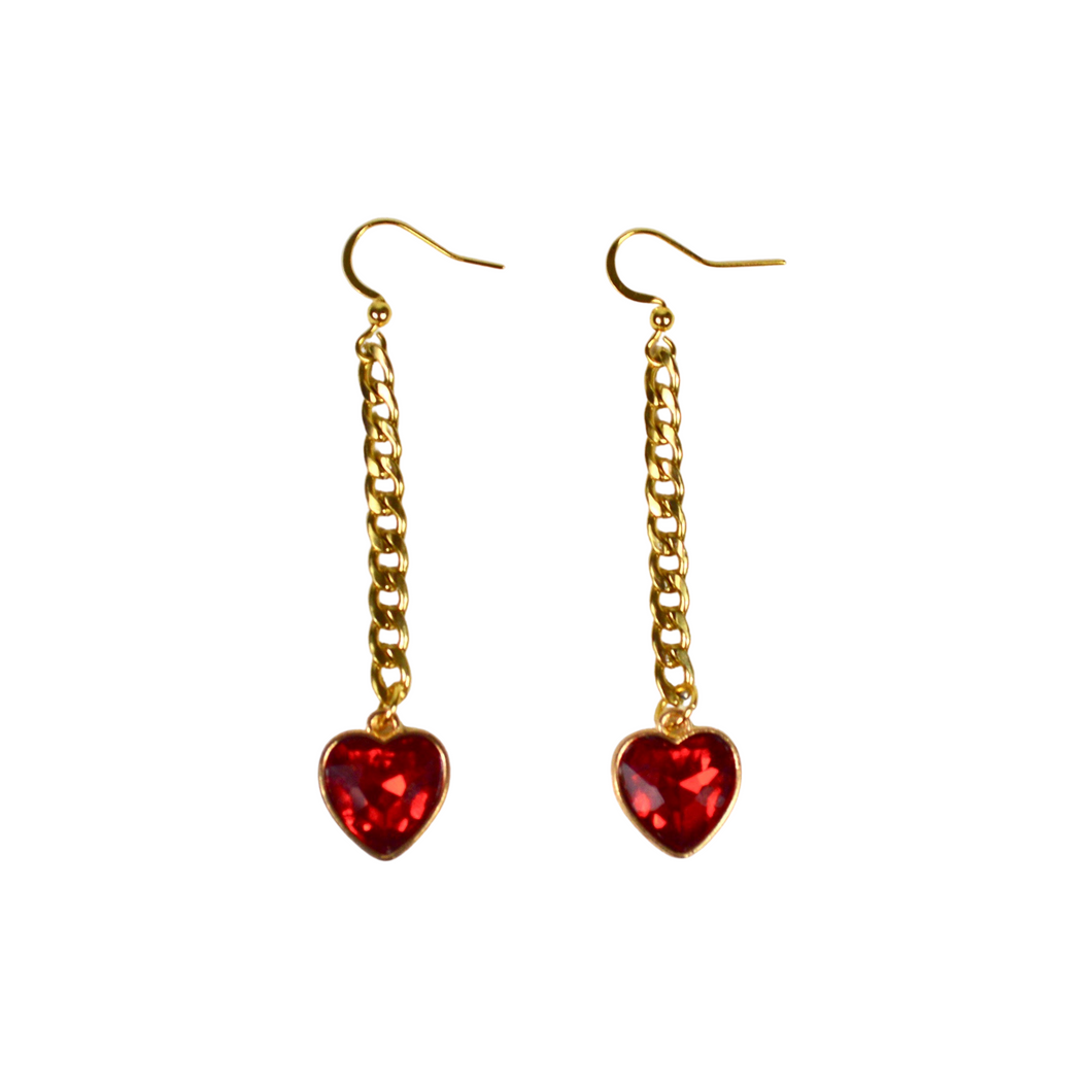 Golden Hearts Earrings