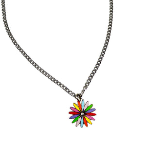 Rainbow Sunburst Necklace