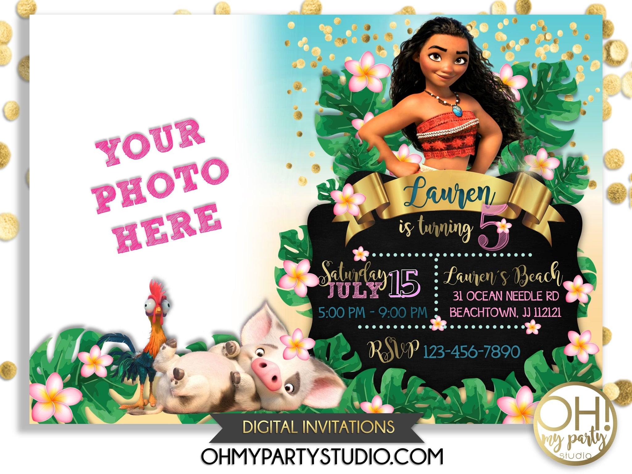 Moana Invitation, moana invitations, moana printable, moana invitation digital, moana party, moana birthday, moana birthday party, moana invitations