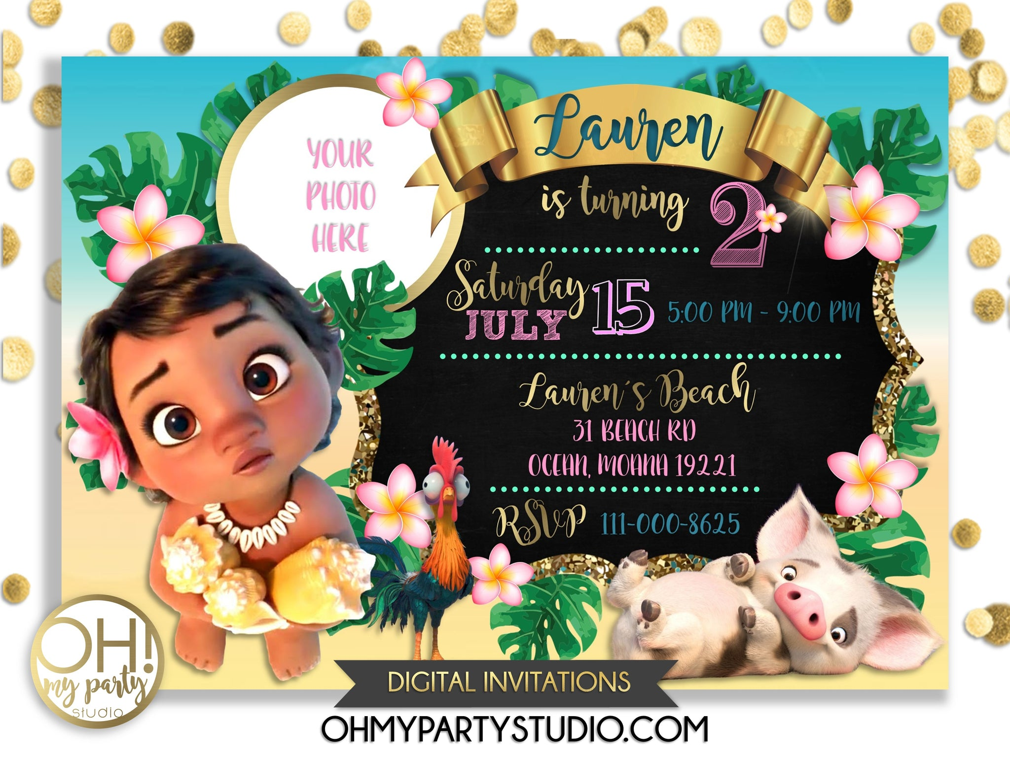 image regarding Moana Printable Invitations identify Boy or girl MOANA BIRTHDAY Get together INVITATION WITH Photograph