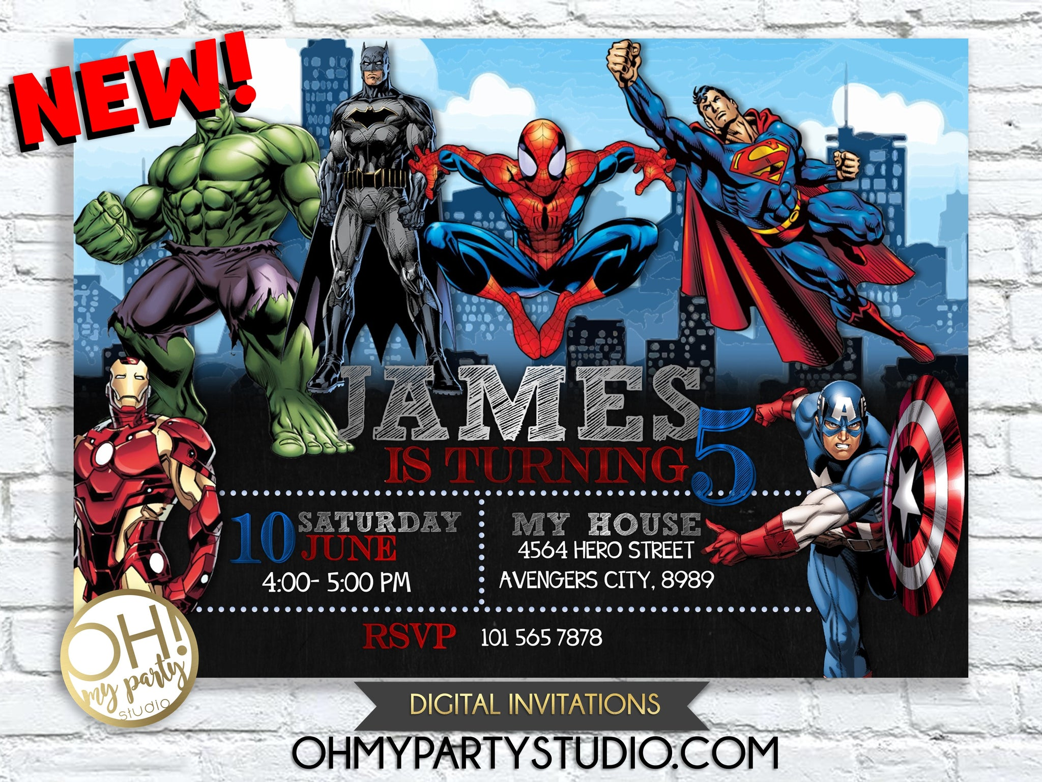Superheroes Inspiration Oh My Party Studio