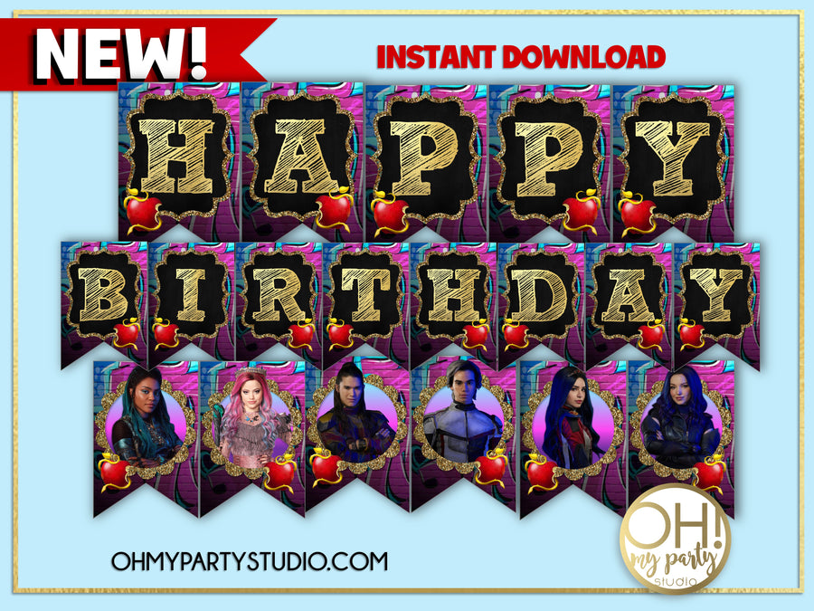 DESCENDANTS 3 BIRTHDAY PARTY, DESCENDANTS 3 PARTY IDEAS, DESCENDANTS 3 PARTY PRINTABLES, DESCENDANTS 3 PARTY DECORATIONS, DESCENDANTS 3 KIT PRINTABLE, DESCENDANTS 3 PACKAGE PRINTABLE, DESCENDANTS 3 PARTY, DESCENDANTS 3 BIRTHDAY, DESCENDANTS 3 DECORATIONS, DESCENDANTS 3 BANNER, DESCENDANTS 3 CUPCAKE TOPPERS, DESCENDANTS 3 CAKE TOPPER, DESCENDANTS 3 THANK YOU TAGS, DESCENDANTS 3 INSTANT DOWNLOAD