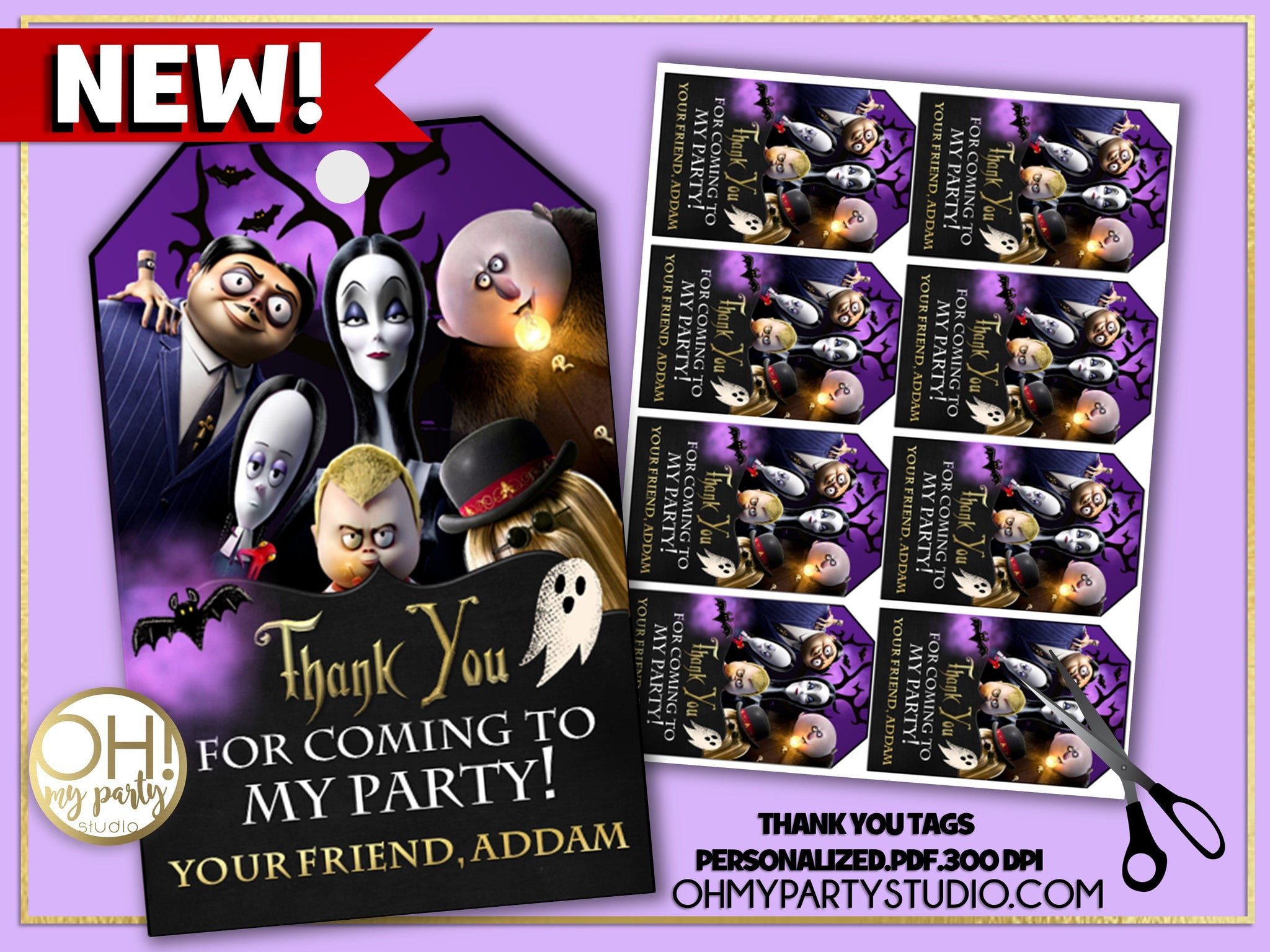 ADDAMS FAMILY THANK YOU TAGS, ADDAMS FAMILY  PARTY, ADDAMS FAMILY  BIRTHDAY, ADDAMS FAMILY PARTY PRINTABLES, ADDAMS FAMILY DECORATIONS, ADDAMS FAMILY  FAVORS, ADDAMS FAMILY PARTY SUPPLIES, ADDAMS FAMILY  PARTY DECORATIONS, ADDAMS FAMILY PARTY IDEAS, ADDAMS FAMILY BIRTHDAY PARTY, ADDAMS FAMILY TAGS