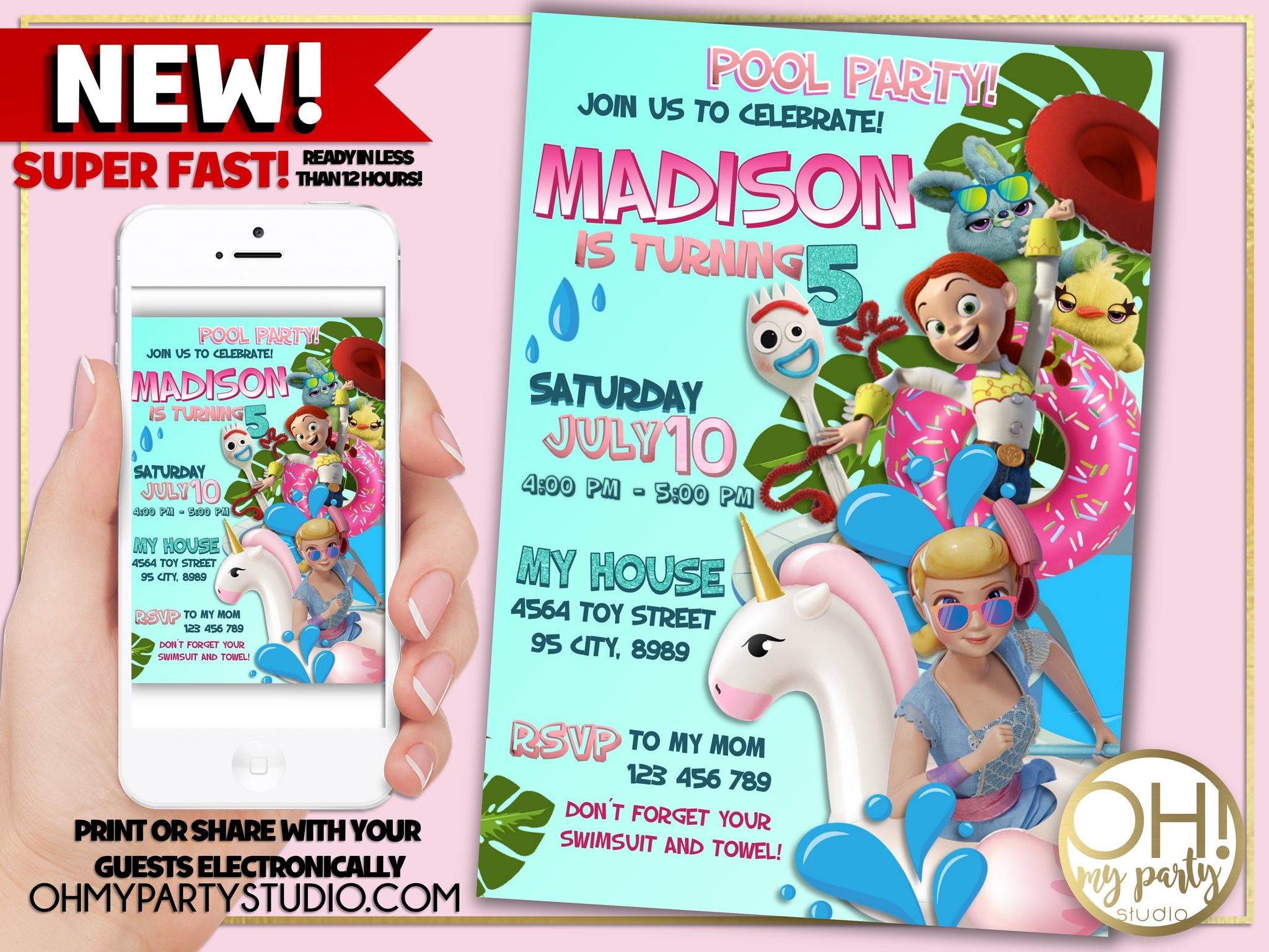 TOY STORY 4 INVITATION FOR GIRL, TOY STORY 5 POOL PARTY INVITATION, TOY STORY 4 BIRTHDAY GIRL,TOY STORY 4 BIRTHDAY INVITATION, TOY STORY BIRTHDAY INVITATION, TOY STORY PARTY, TOY STORY BIRTHDAY, TOY STORY BIRTHDAY PARTY,TOY STORY 4 PARTY IDEAS, TOY STORY 4 BIRTHDAY PARTY, TOY STORY 4 INVITE, TOY STORY 4 INVITATIONS, TOY STORY 4 BIRTHDAY PARTY INVITATIONS