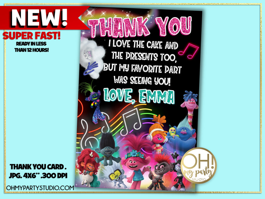 TROLLS 2 THANK YOU CARD, TROLLS WORLD TOUR THANK YOU CARD, TROLLS WORLD TOUR PARTY PRINTABLES ,TROLLS WORLD TOUR FAVORS, TROLLS WORLD TOUR PARTY IDEAS, TROLLS WORLD TOUR CARD, TROLLS WORLD TOUR PARTY, TROLLS WORLD TOUR BIRTHDAY, TROLLS WORLD TOUR BIRTHDAY PARTY, TROLLS 2 PARTY, TROLLS 2 PARTY IDEAS, TROLLS 2 BIRTHDAY, TROLLS 2 PARTY PRINTABLES, TROLLS 2 CARD