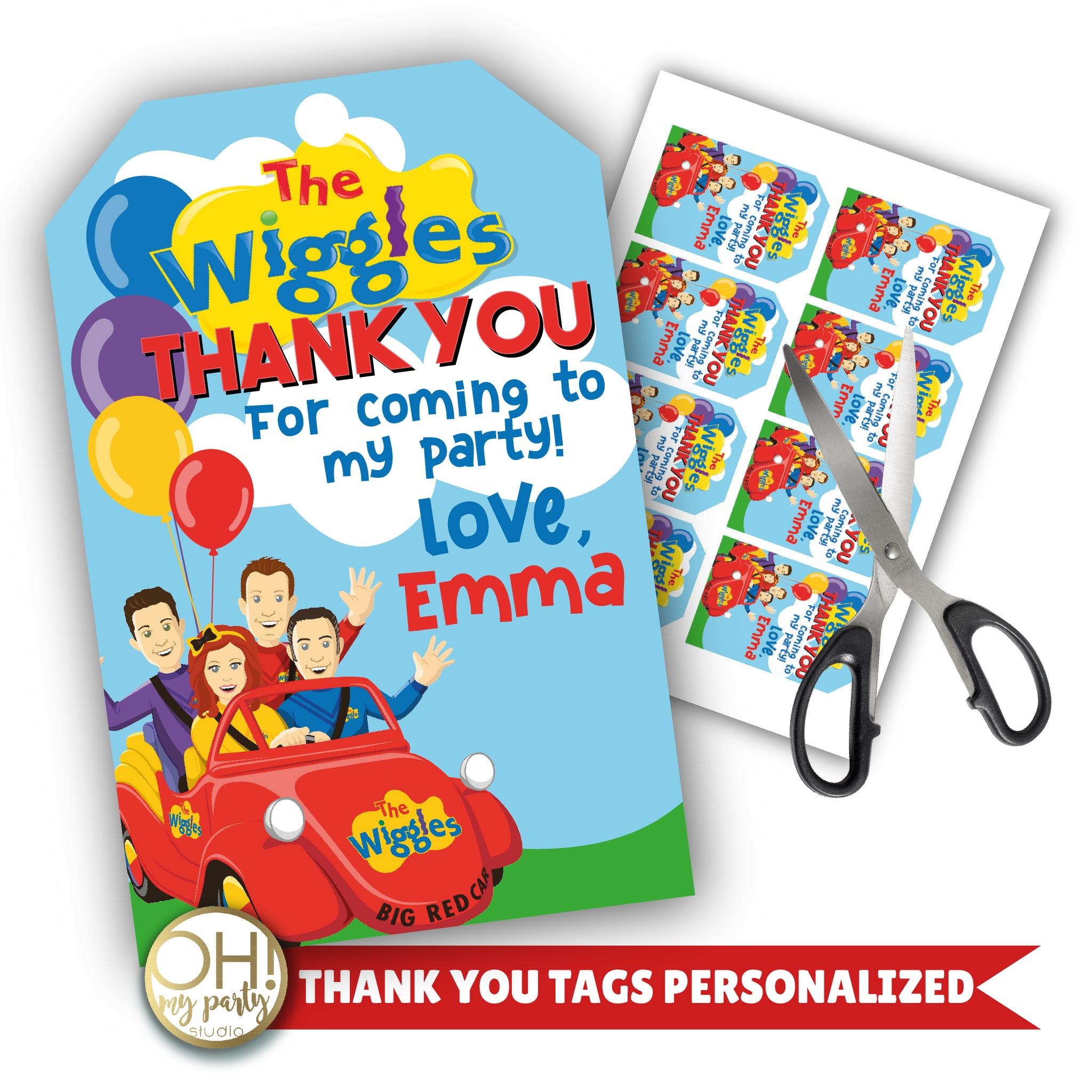 THE WIGGLES BIRTHDAY PARTY, THE WIGGLES THANK YOU TAGS, THE WIGGLES FAVORS, THE WIGGLES PARTY DECORATIONS, THE WIGGLES PARTY SUPPLIES, THE WIGGLES THANK YOU, THE WIGGLES PARTY IDEAS, THE WIGGLES DECORATION, THE WIGGLE TAGS, THE WIGGLES BIRTHDAY, THE WIGGLES PARTY